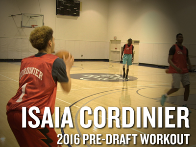 Isaia Cordinier NBA Pro Day Workout Video