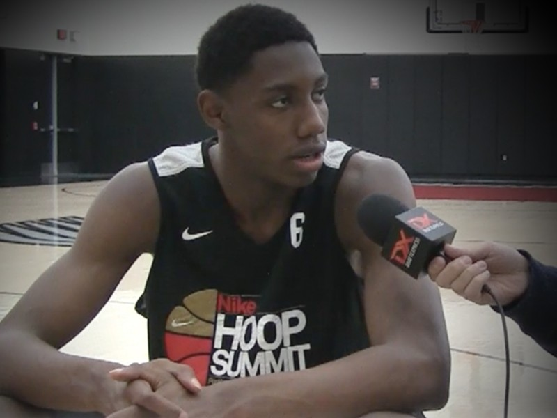 2017 R.J. Barrett Nike Hoop Summit Interview and Practice Highlights