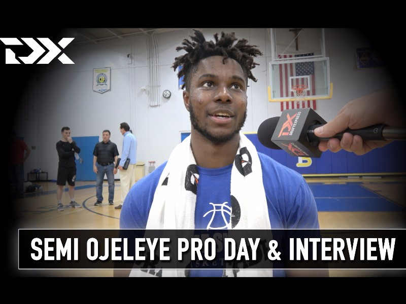 Semi Ojeleye NBA Pro Day Workout and Interview